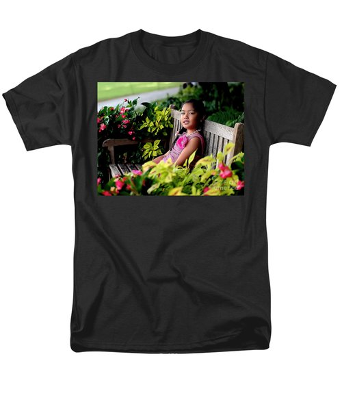 Men's T-Shirt  (Regular Fit) featuring the photograph Children by Diana Mary Sharpton