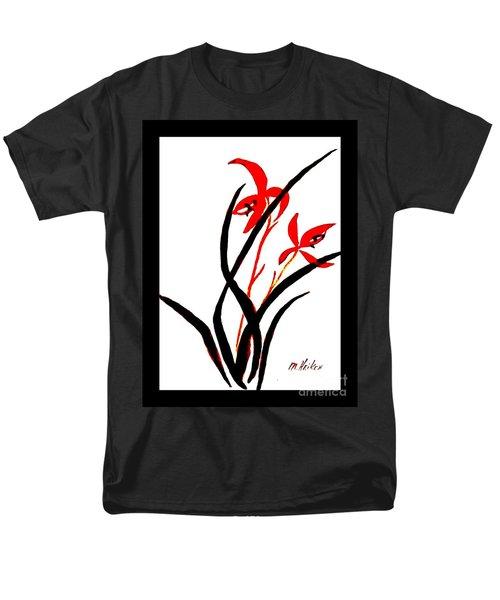 Chinese Flowers Men's T-Shirt  (Regular Fit) by Marsha Heiken