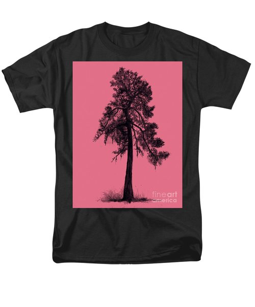 Men's T-Shirt  (Regular Fit) featuring the drawing Chinese Pine Tree by Maja Sokolowska