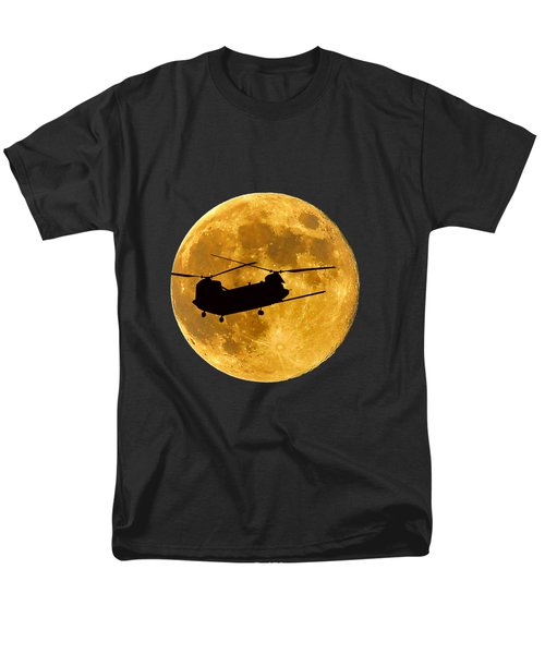 Chinook Moon Color .png Men's T-Shirt  (Regular Fit) by Al Powell Photography USA