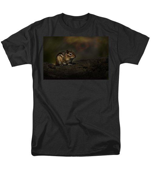 Men's T-Shirt  (Regular Fit) featuring the photograph Chipmunk On Rock by Michael Cummings