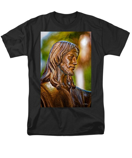 Christ In Bronze Men's T-Shirt  (Regular Fit) by Christopher Holmes