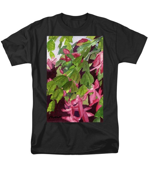 Men's T-Shirt  (Regular Fit) featuring the painting Christmas Cactus by Lynne Reichhart