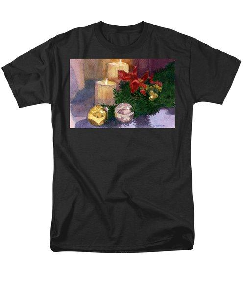 Christmas Glow Men's T-Shirt  (Regular Fit) by Lynne Reichhart