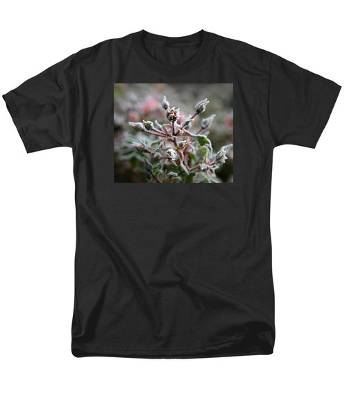 Men's T-Shirt  (Regular Fit) featuring the photograph Christmas Miniature Rosebuds by Katie Wing Vigil