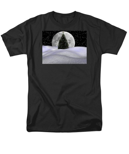 Christmas Moon Men's T-Shirt  (Regular Fit) by Michele Wilson