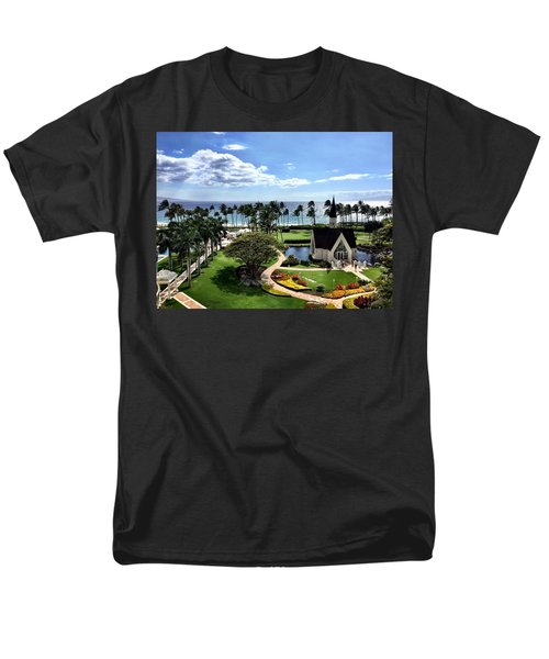 Men's T-Shirt  (Regular Fit) featuring the photograph Church In Paradise by Michael Albright