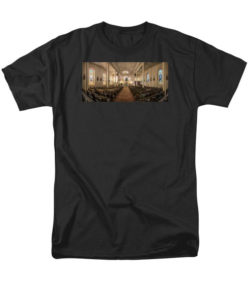 Men's T-Shirt  (Regular Fit) featuring the photograph Church Of The Assumption Of The Blessed Virgin Pano by Andy Crawford
