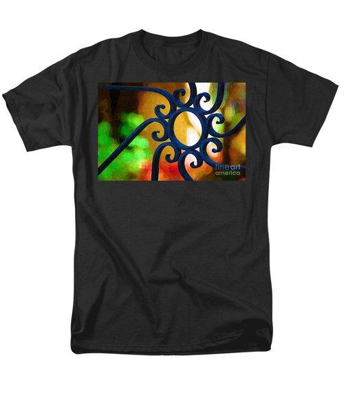 Circle Design On Iron Gate Men's T-Shirt  (Regular Fit) by Donna Bentley