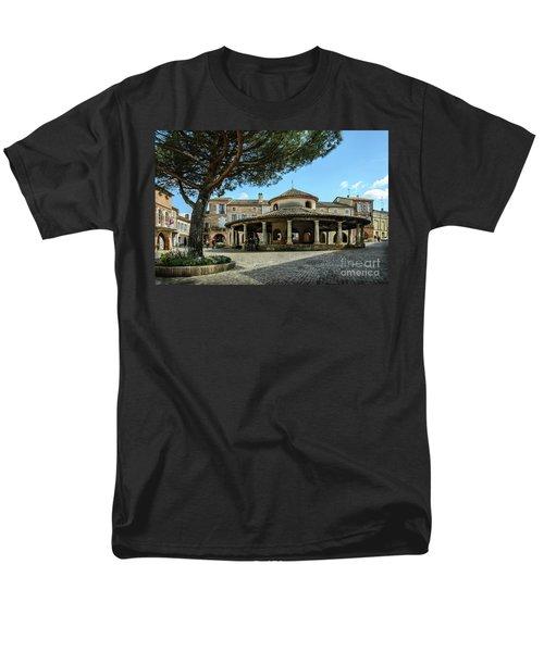 Circular Grain Market In Auvillar Men's T-Shirt  (Regular Fit) by RicardMN Photography