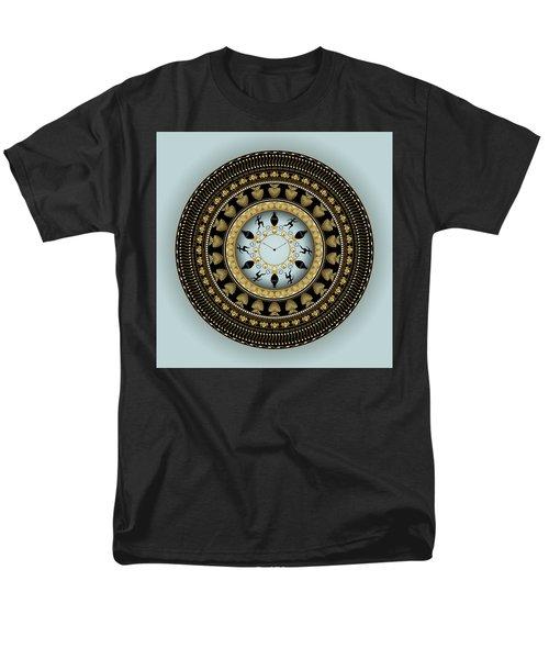 Men's T-Shirt  (Regular Fit) featuring the digital art Circularium No 2658 by Alan Bennington