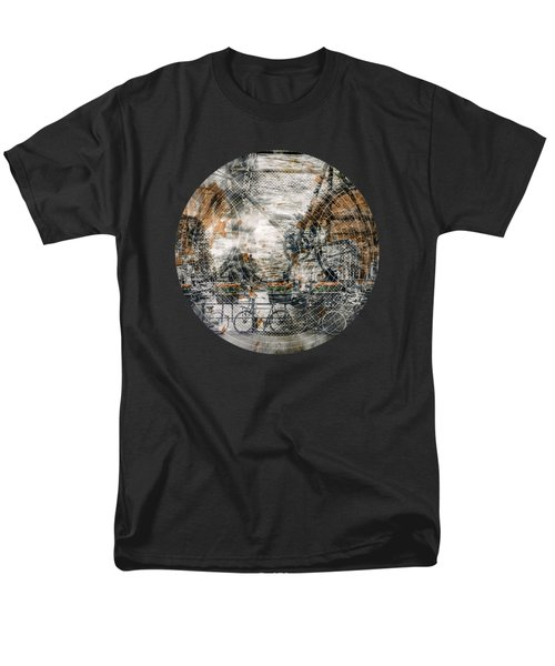 City-art Amsterdam Bicycles  Men's T-Shirt  (Regular Fit) by Melanie Viola