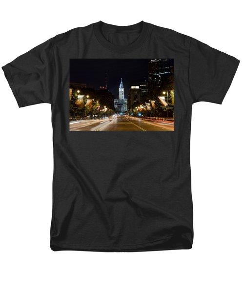 City Hall From The Parkway Men's T-Shirt  (Regular Fit) by Jennifer Ancker