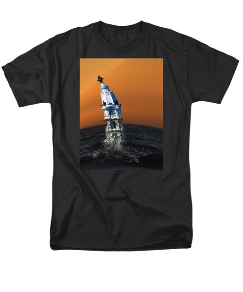 Men's T-Shirt  (Regular Fit) featuring the photograph City Hall Melt by Christopher Woods