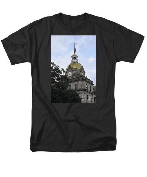 City Hall Savannah Men's T-Shirt  (Regular Fit) by Judy Wolinsky