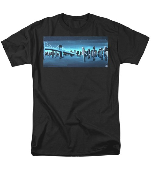 City Skyline Men's T-Shirt  (Regular Fit) by Cyrionna The Cyerial Artist