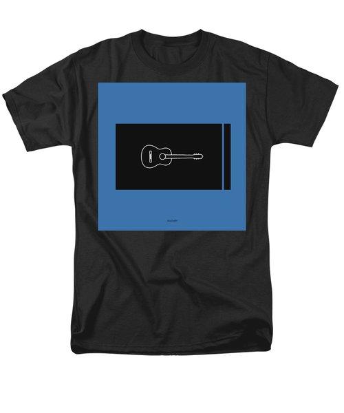 Classical Guitar In Blue Men's T-Shirt  (Regular Fit) by David Bridburg