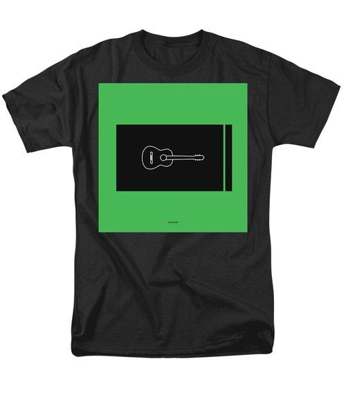 Classical Guitar In Green Men's T-Shirt  (Regular Fit) by David Bridburg