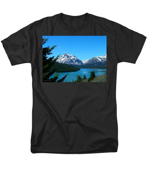 Clear Blue Lower Two Med Lake Men's T-Shirt  (Regular Fit)
