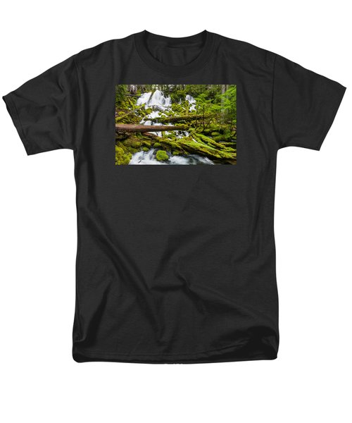 Clearwater Falls And Rapids Men's T-Shirt  (Regular Fit) by Greg Nyquist