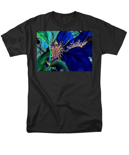 Clematis Regal In Purple And Blue Sold Men's T-Shirt  (Regular Fit) by Lil Taylor