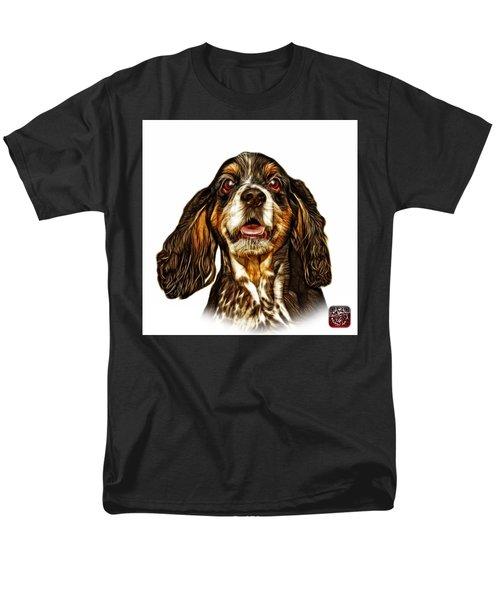 Cocker Spaniel Pop Art - 8249 - Wb Men's T-Shirt  (Regular Fit) by James Ahn