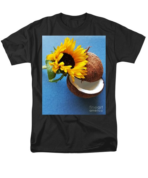 Coconut And Sunflower Harmony Men's T-Shirt  (Regular Fit)