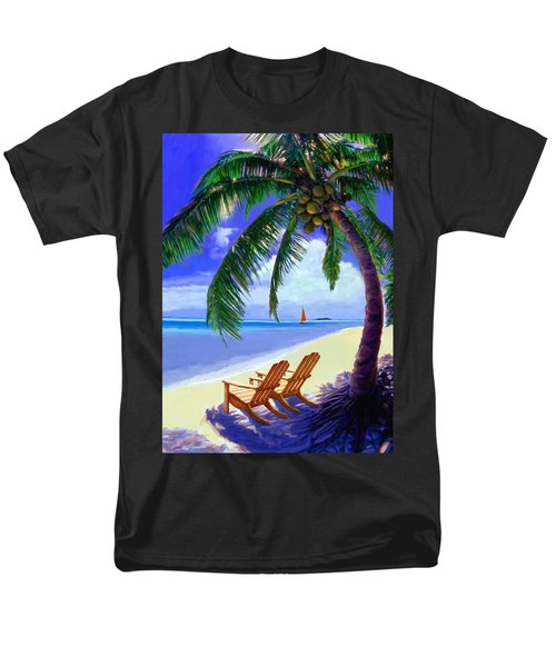 Men's T-Shirt  (Regular Fit) featuring the painting Coconut Palm by David  Van Hulst