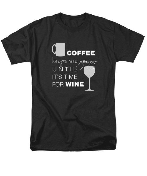 Coffee And Wine Men's T-Shirt  (Regular Fit) by Nancy Ingersoll