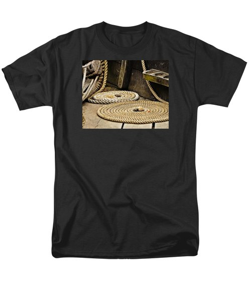 Coiled Rope From Philadelphia II Gunboat Men's T-Shirt  (Regular Fit) by Rena Trepanier