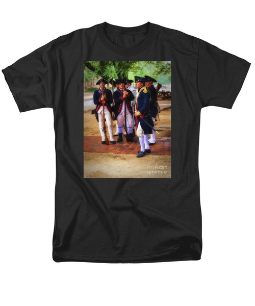 Men's T-Shirt  (Regular Fit) featuring the photograph Colonial Army  ... by Chuck Caramella