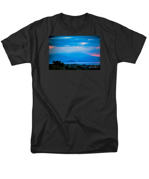 Color Over The Lake Men's T-Shirt  (Regular Fit) by Rick Bragan