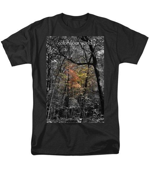 Color Your World Men's T-Shirt  (Regular Fit) by Geri Glavis