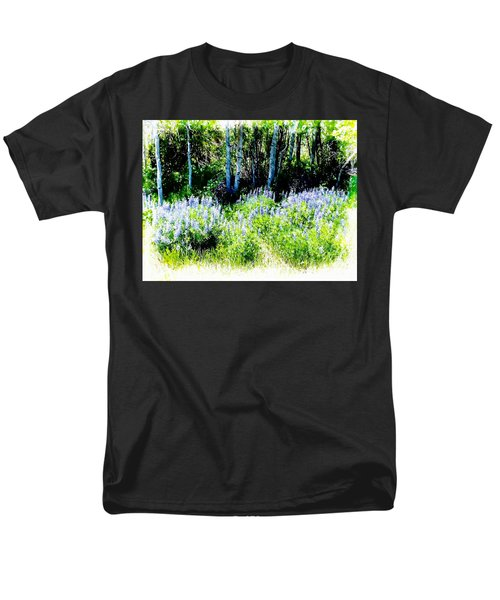 Men's T-Shirt  (Regular Fit) featuring the photograph Colorado Apens And Flowers by Joseph Hendrix