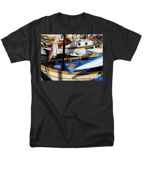 Colorful Boats Men's T-Shirt  (Regular Fit) by Lainie Wrightson