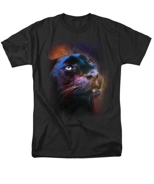 Colorful Expressions Black Leopard Men's T-Shirt  (Regular Fit)