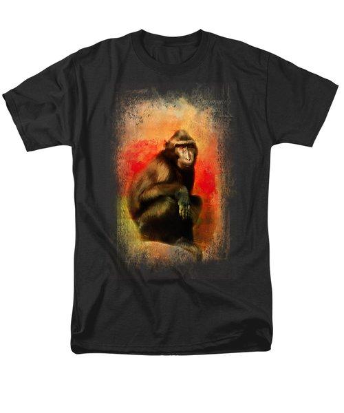 Colorful Expressions Black Monkey Men's T-Shirt  (Regular Fit) by Jai Johnson