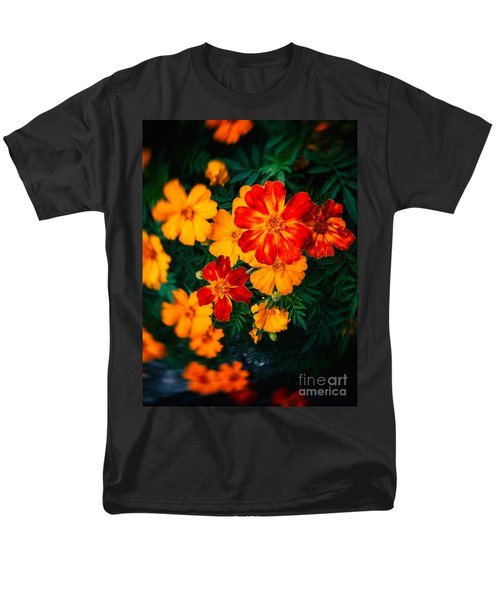 Men's T-Shirt  (Regular Fit) featuring the photograph Colorful Flowers by Silvia Ganora