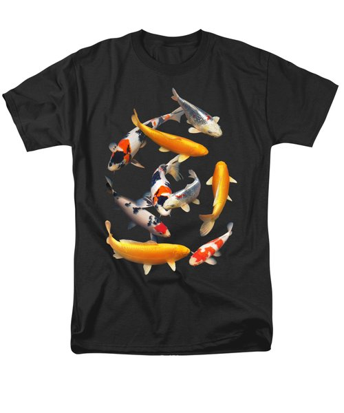 Colorful Japanese Koi Vertical Men's T-Shirt  (Regular Fit) by Gill Billington