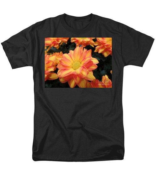 Men's T-Shirt  (Regular Fit) featuring the photograph Colorful Mums by Ray Shrewsberry