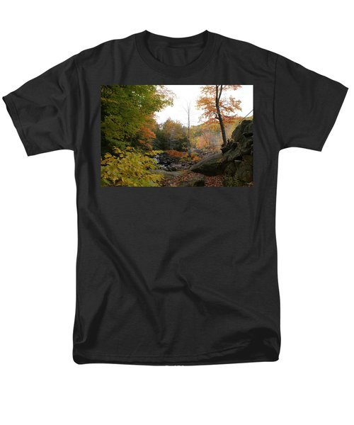 Colors Along The Stream Men's T-Shirt  (Regular Fit)