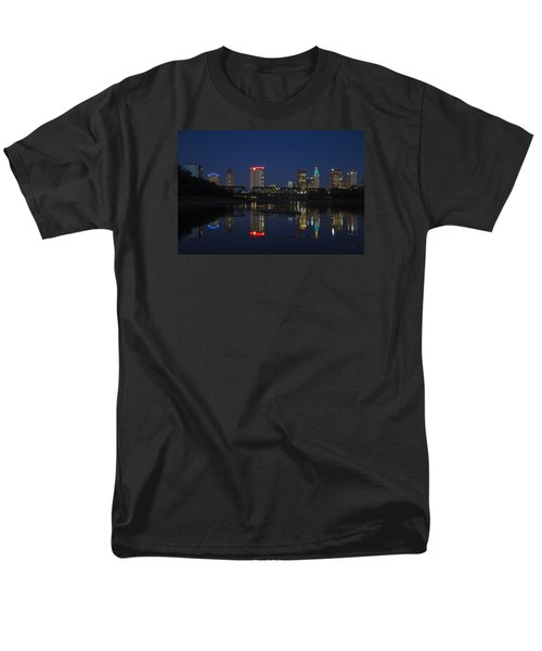 Men's T-Shirt  (Regular Fit) featuring the photograph Columbus Night Reflection by Alan Raasch