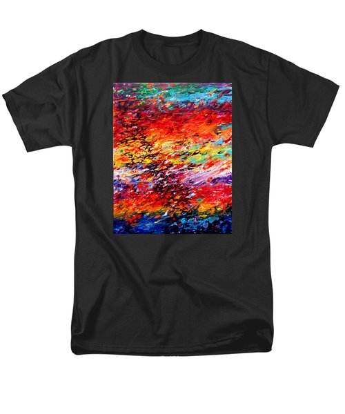Composition # 6. Series Abstract Sunsets Men's T-Shirt  (Regular Fit) by Helen Kagan