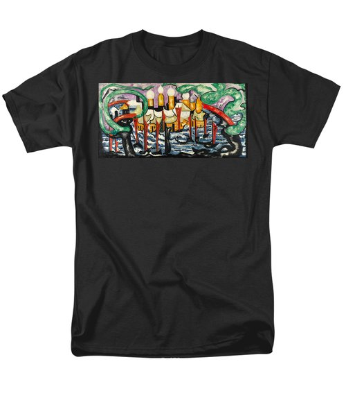 Men's T-Shirt  (Regular Fit) featuring the painting Composition No.62 by Jacoba van Heemskerck