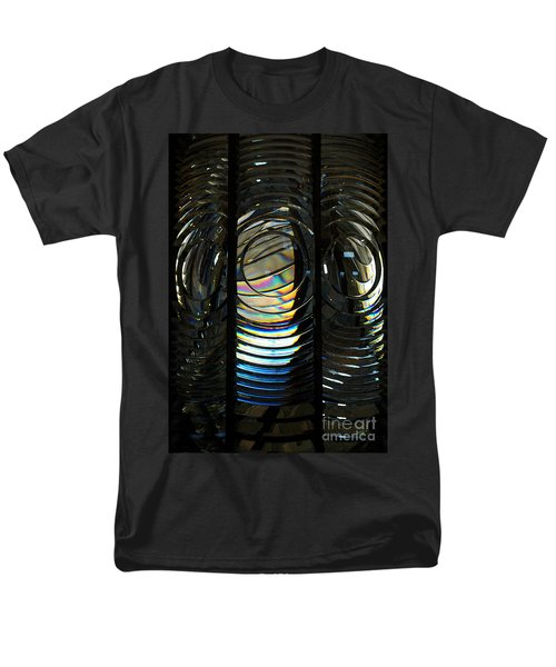 Concentric Glass Prisms - Water Color Men's T-Shirt  (Regular Fit) by Linda Shafer