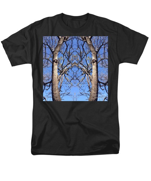 Conjoined Tree Collage Men's T-Shirt  (Regular Fit) by Nora Boghossian