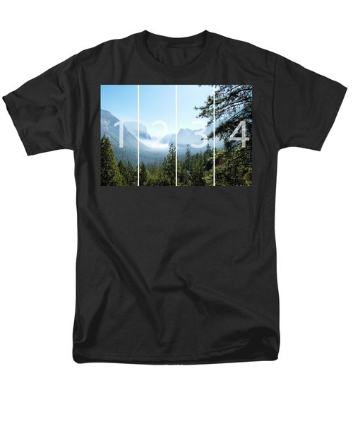 Controlled Burn Of Yosemite Panoramic Map Men's T-Shirt  (Regular Fit) by Michael Bessler