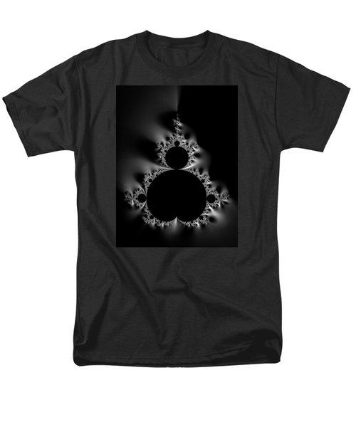 Cool Black And White Mandelbrot Set Men's T-Shirt  (Regular Fit)