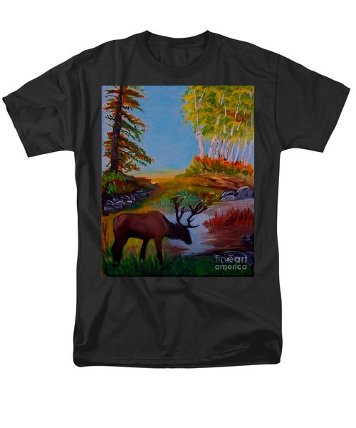 Men's T-Shirt  (Regular Fit) featuring the painting Cool Drink by Leslie Allen