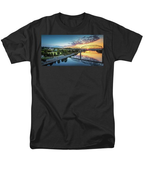 Coolidge Park Sunrise Panoramic Men's T-Shirt  (Regular Fit) by Steven Llorca